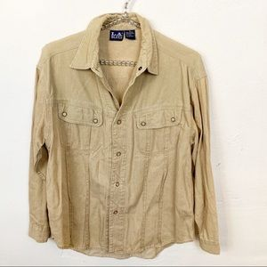 Vintage l L.A Blues Khaki Corduroy Button Down